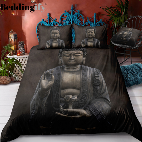 Image of Buddha Statue Bedding Set - Beddingify
