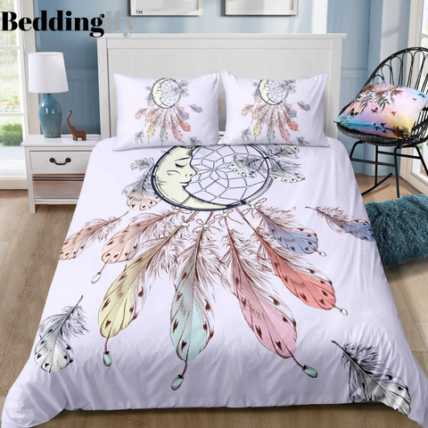 Image of Crescent Dreamcatcher Bedding Set - Beddingify