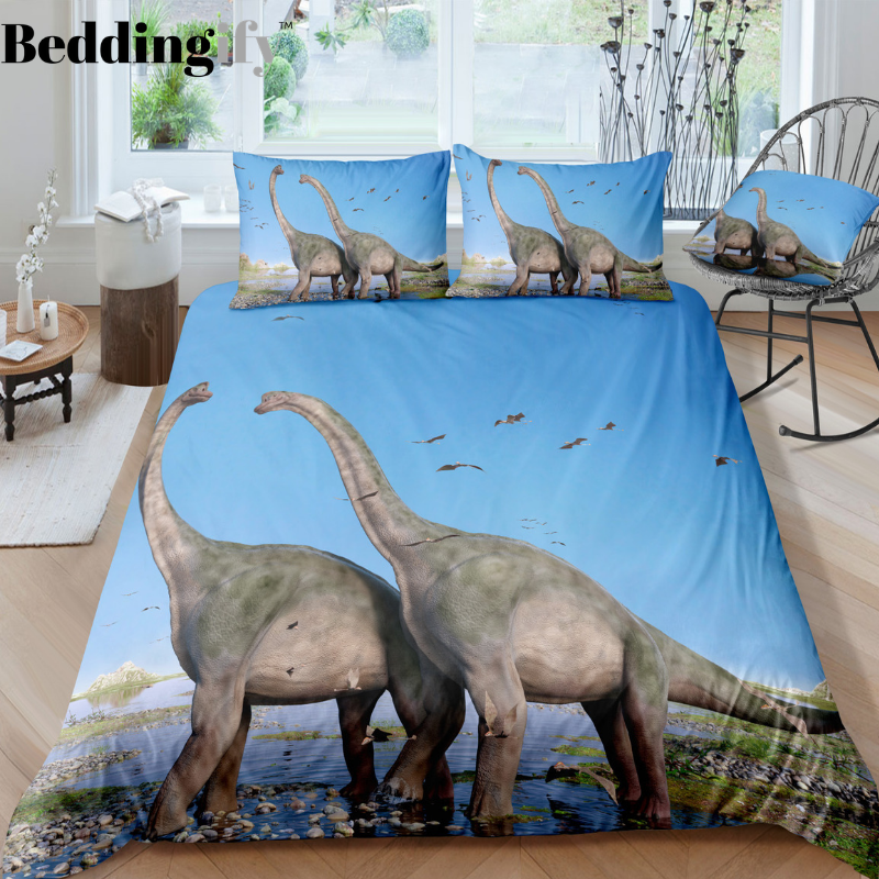 2 Dinosaur Bedding Set - Beddingify