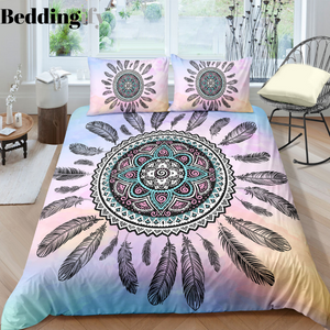 Peace Circle Dreamcatcher Bedding Set - Beddingify