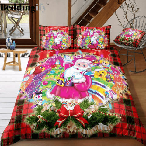 Image of Santa Claus and Gift Bedding Set - Beddingify