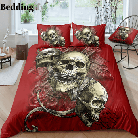 K3 Skull Bedding Set - Beddingify