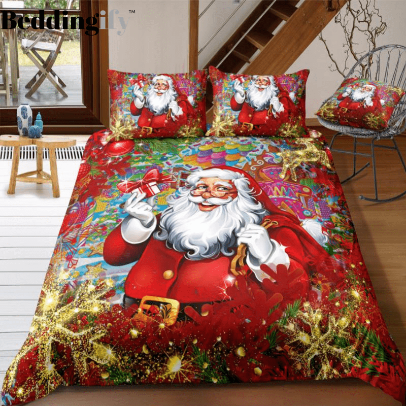 Santa Claus Is Coming To Town Bedding Set - Beddingify