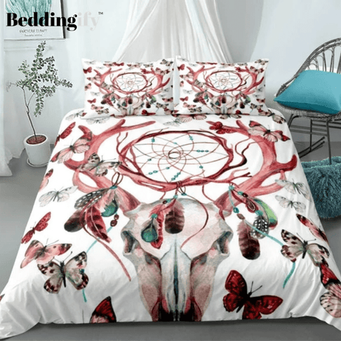 Image of Bohemia Butterfly Horn Dreamcatcher Bedding Set - Beddingify