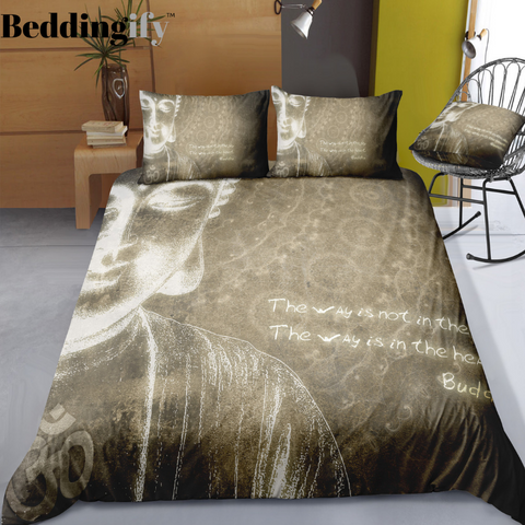 Image of Burgundy Buddha Vintage Background Bedding Set - Beddingify