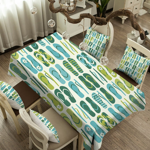 Image of Flip Flop Frenzy Tablecloth - Beddingify