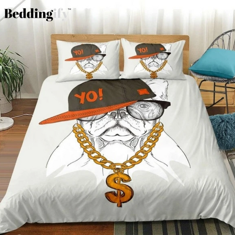 Image of Cool and Handsome Dog Comforter Set - Beddingify