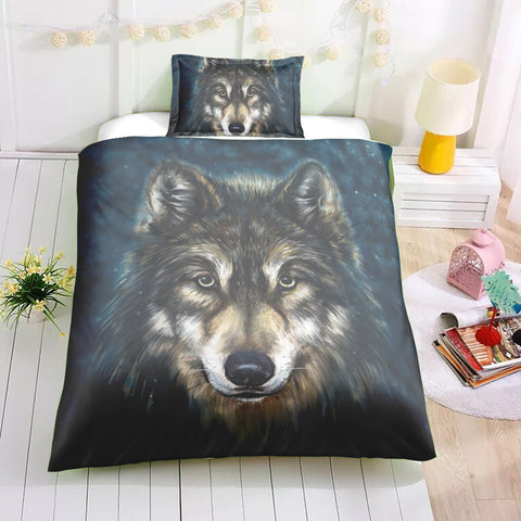 The Old Mystic Wolf Bedding Set - Beddingify