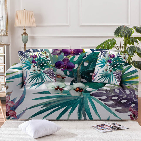 Tropical Orchids Sofa Cover - Beddingify