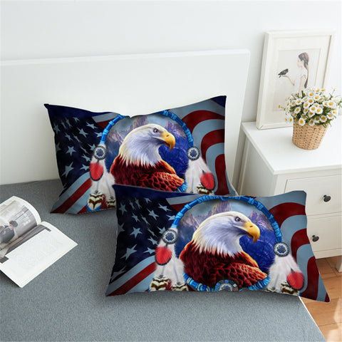 Image of 3D Bald Eagle America Pillowcase