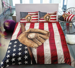 Baseball Flag Bedding Set - Beddingify