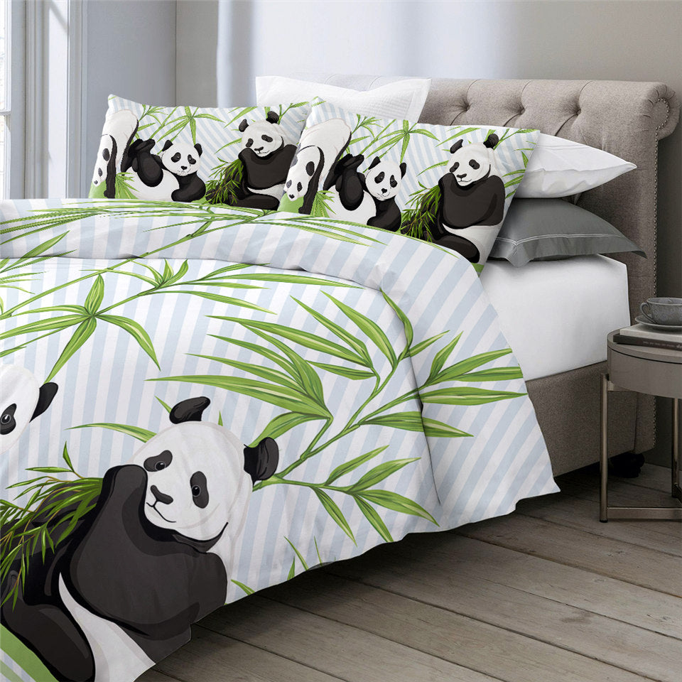 Panda Trio Bedding Set - Beddingify
