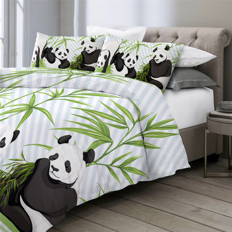 Image of Panda Trio Bedding Set - Beddingify