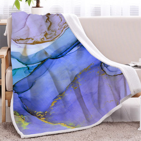 3D Natural Marble Themed Sherpa Fleece Blanket