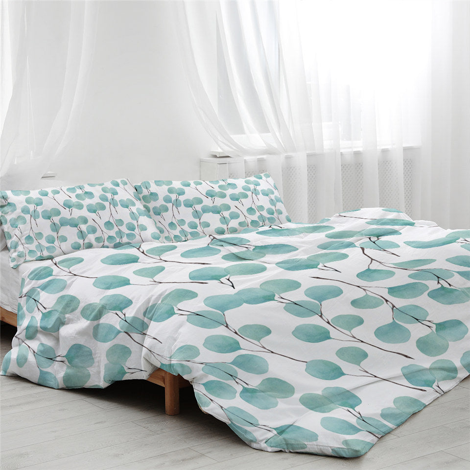 Indigo Small Branches Bedding Set - Beddingify