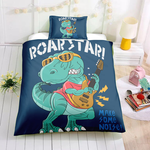 Image of Funny Dinosaur Bedding Set - Beddingify