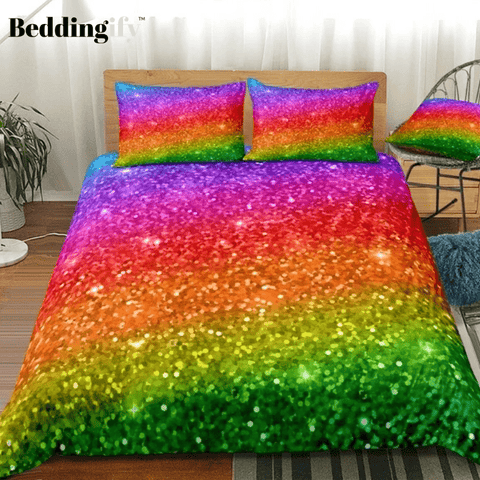 Rainbow Glitter Bedding Set - Beddingify