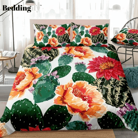 Image of Cactuses Flowers Bedding Set - Beddingify