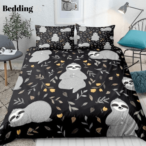 Sloths in the Forest Comforter Set - Beddingify