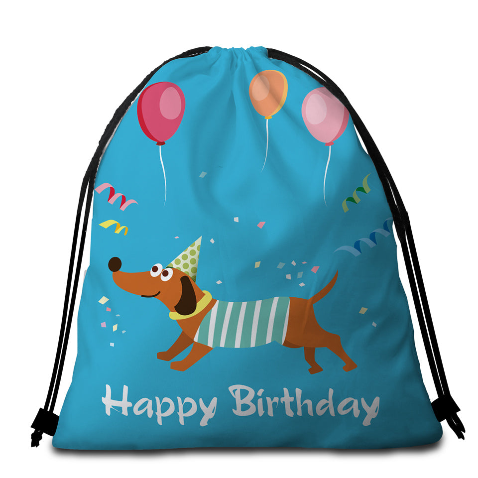 HPBD Dachshund Round Beach Towel Set - Beddingify