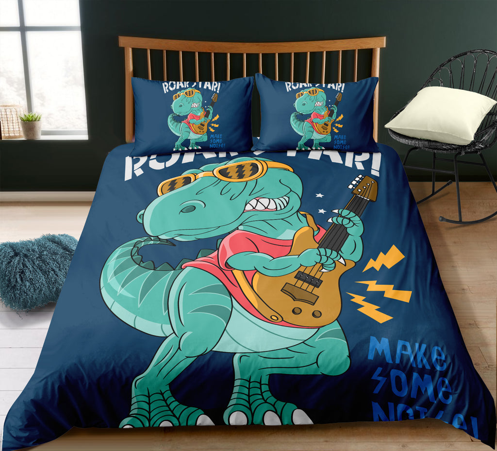 Funny Dinosaur Bedding Set - Beddingify