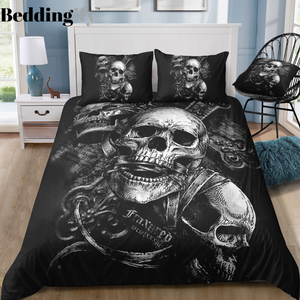 B2 Skull Bedding Set