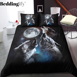 Howling Wolves Bedding Set