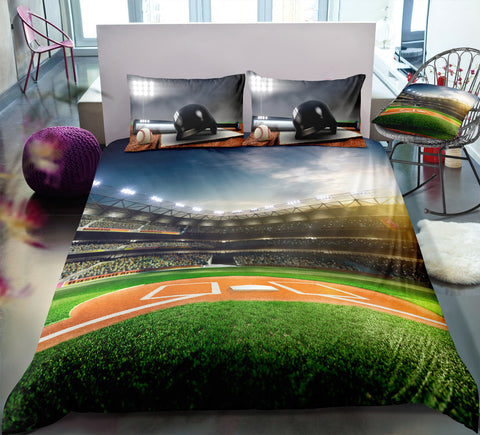 Image of Baseball Field Bedding Set - Beddingify