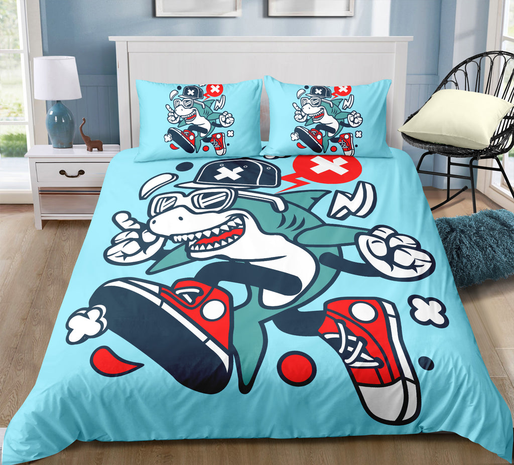 Boys Shark Bedding Set - Beddingify