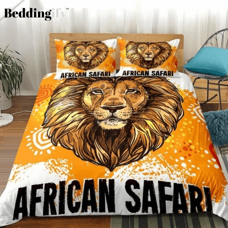 Lion Pattern Bedding Set - Beddingify