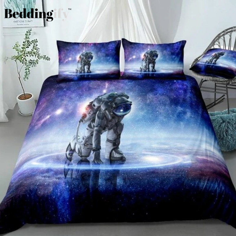 3D Galaxy Astronaut  Bedding Set - Beddingify