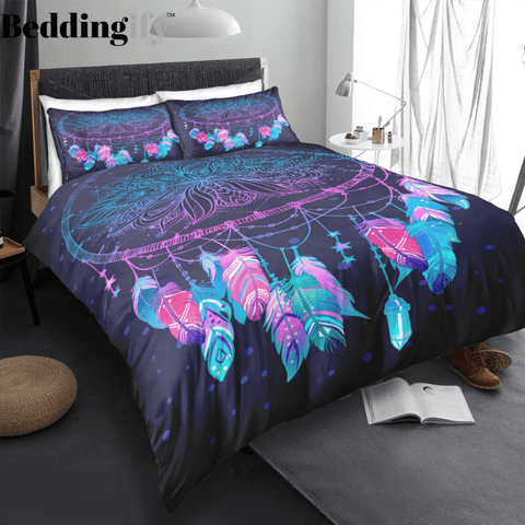 Purple Dreamcatcher Bedding Set - Beddingify