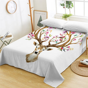 Antler Of Life Flat Sheet - Beddingify