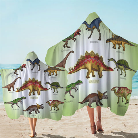 Dinosaur Collection Hooded Towel