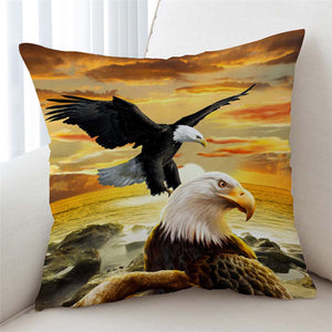 3D Bald Eagles Cushion Cover - Beddingify