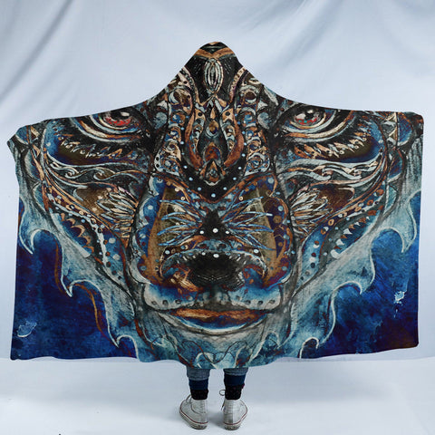 Image of Stylized Cheetah SW1637 Hooded Blanket