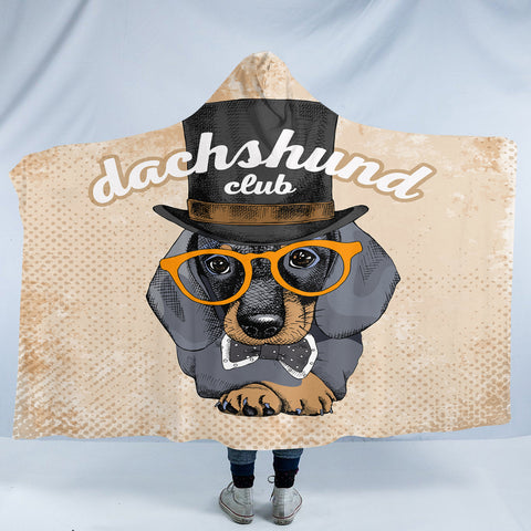 Image of Dachshund Club SW2529 Hooded Blanket