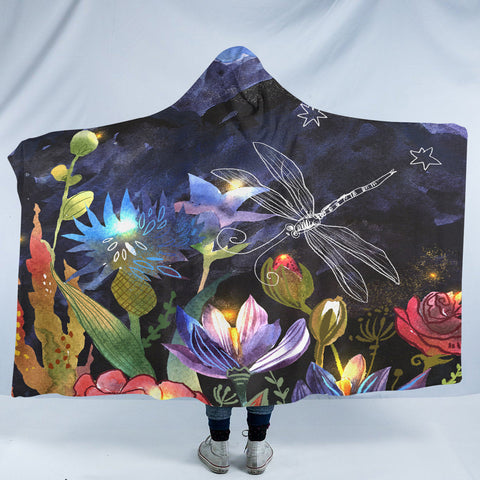 Image of Night Dragonfly SW2052 Hooded Blanket