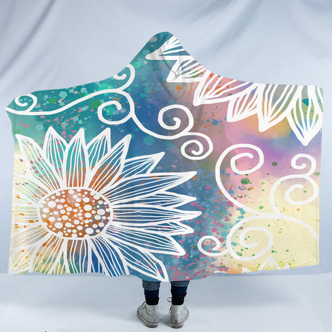 Image of Magical Flower SW2388 Hooded Blanket