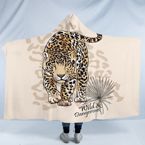 Image of Wild Leopard SW2519 Hooded Blanket