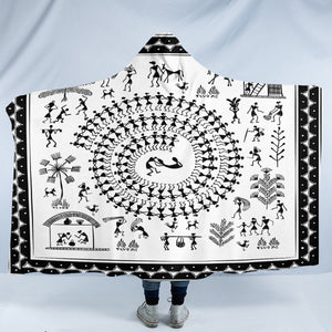 Ancient Lifestyle White SW2178 Hooded Blanket