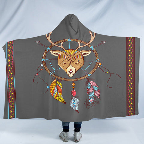 Image of Antler Dreamcatcher SW2374 Hooded Blanket