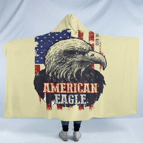Image of American Eagle SW1844 Hooded Blanket