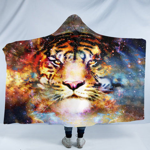 Image of Space Tiger SW2069 Hooded Blanket