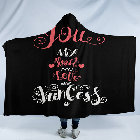 Love For Princess SW2068 Hooded Blanket
