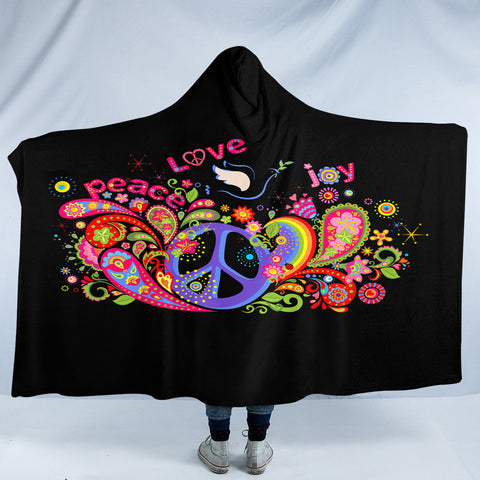 Image of Love Peace SW2168 Hooded Blanket