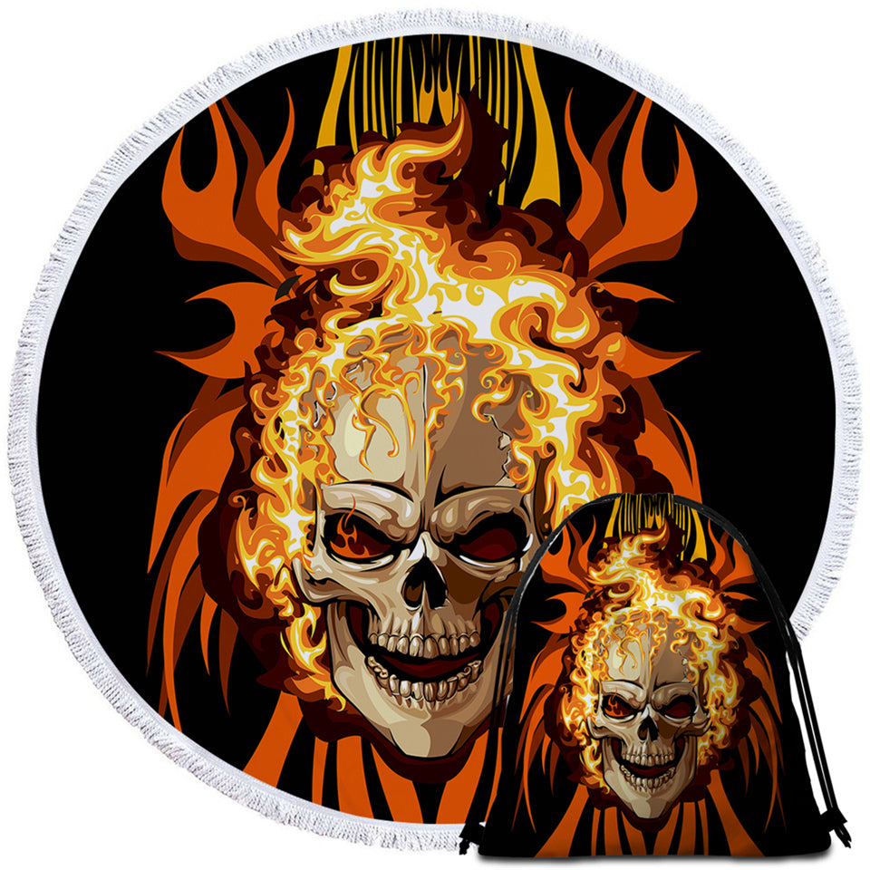 Hell Rider Round Beach Towel Set - Beddingify