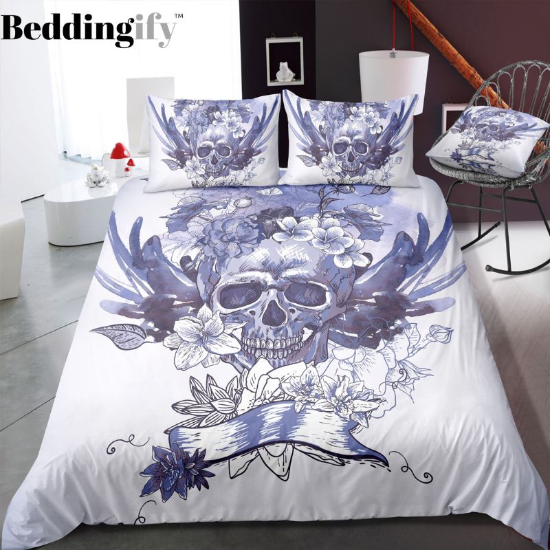 B7 Skull Bedding Set - Beddingify