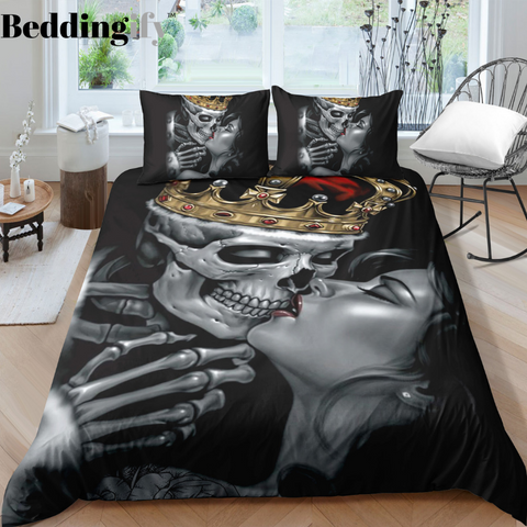 B4 Skull Bedding Set - Beddingify