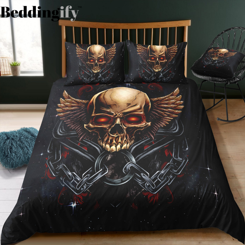 B6 Skull Bedding Set - Beddingify